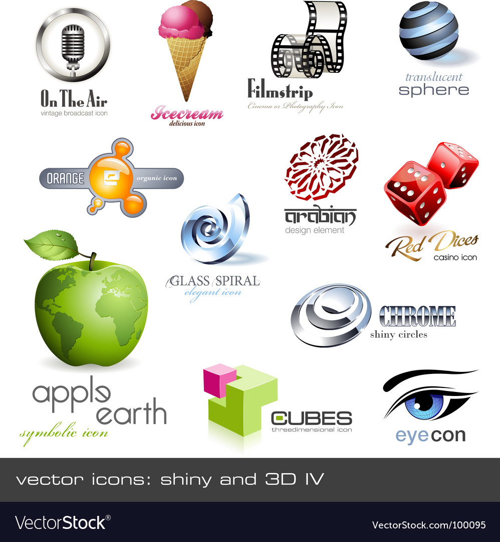 3d icons vector | Price: 1 Credit (USD $1)