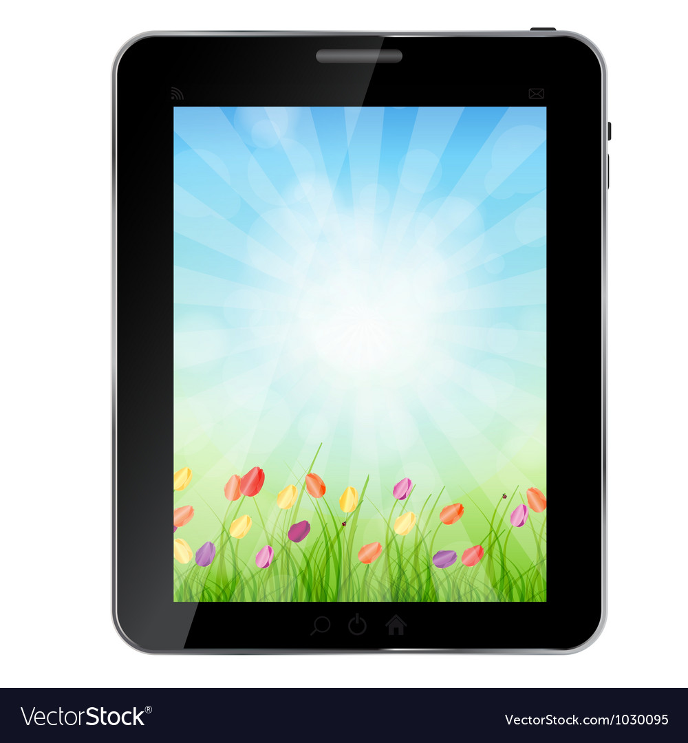 A ecologic abstract tablet pc vector | Price: 1 Credit (USD $1)