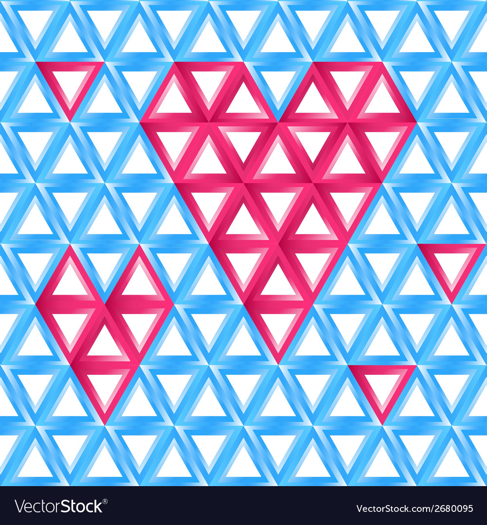 Abstract love card - heart shape made by triangles vector | Price: 1 Credit (USD $1)