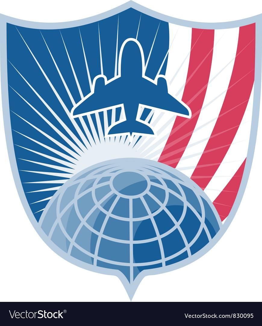 Air plane shield symbol vector | Price: 1 Credit (USD $1)
