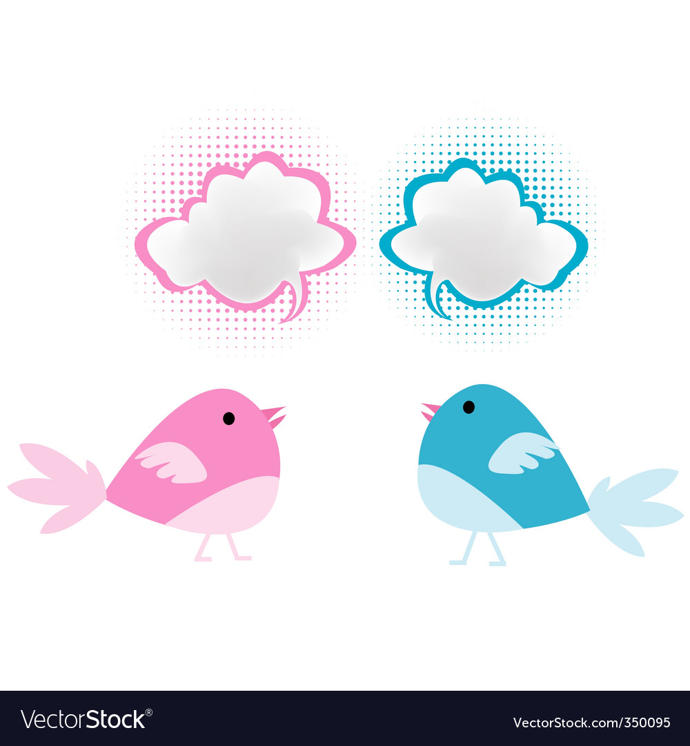 Bird chatter vector | Price: 1 Credit (USD $1)