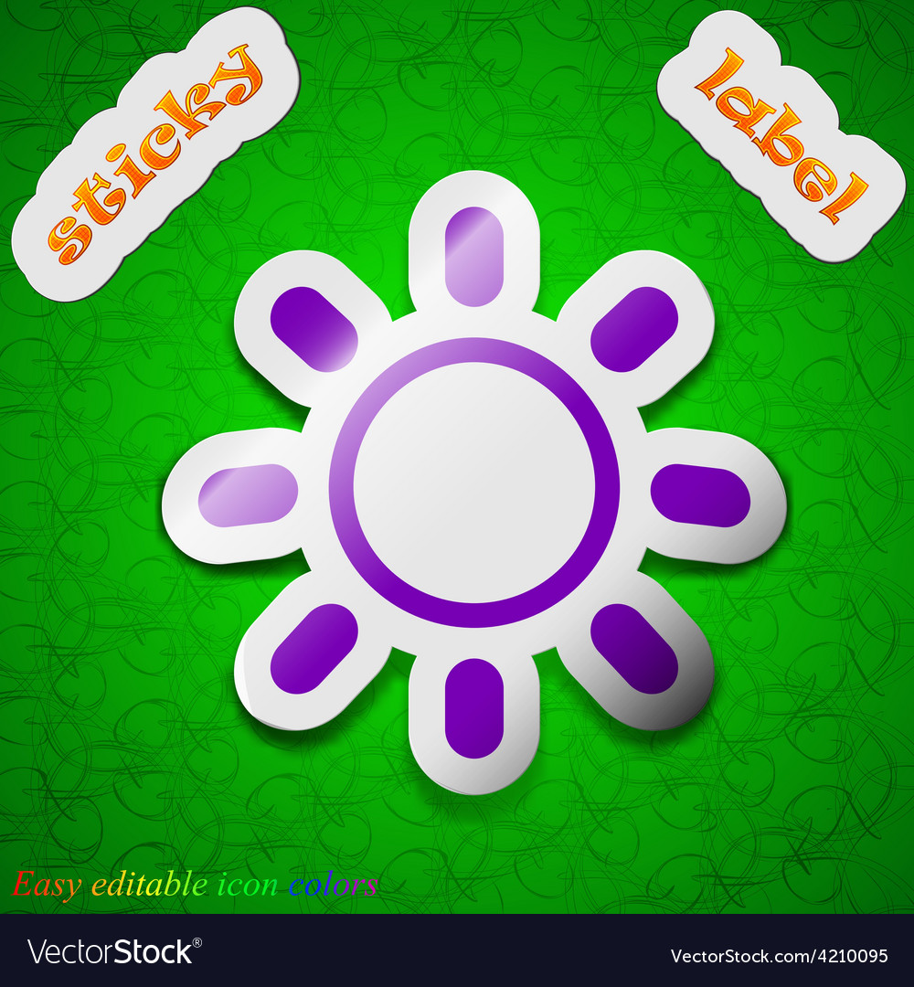 Brightness icon sign symbol chic colored sticky vector | Price: 1 Credit (USD $1)