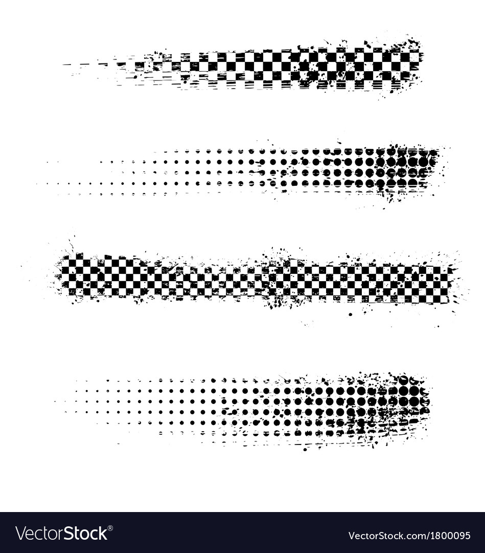 Grunge halftone effec banners vector | Price: 1 Credit (USD $1)