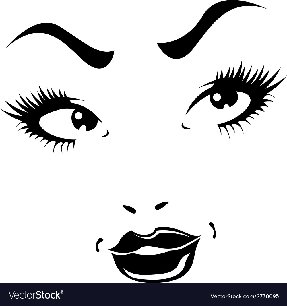Portrait of beautiful confident woman vector | Price: 1 Credit (USD $1)