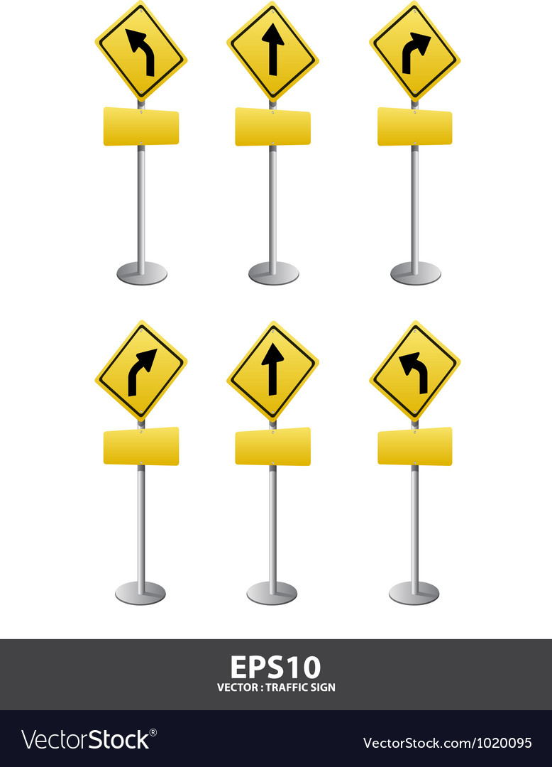 Roadsign left right vector | Price: 1 Credit (USD $1)