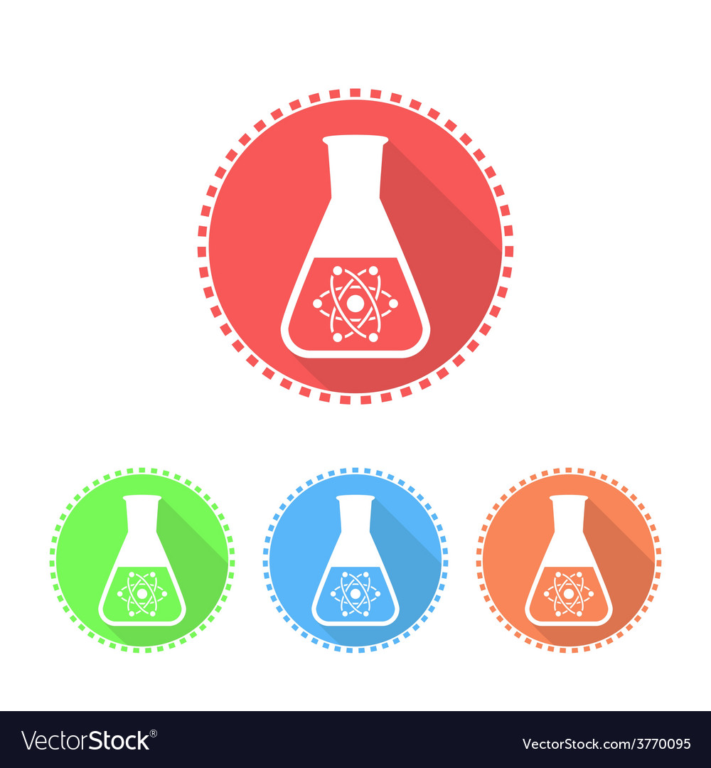Simple icons of conical flask vector | Price: 1 Credit (USD $1)