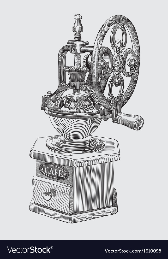 Sketch drawing of coffee grinder vector | Price: 1 Credit (USD $1)