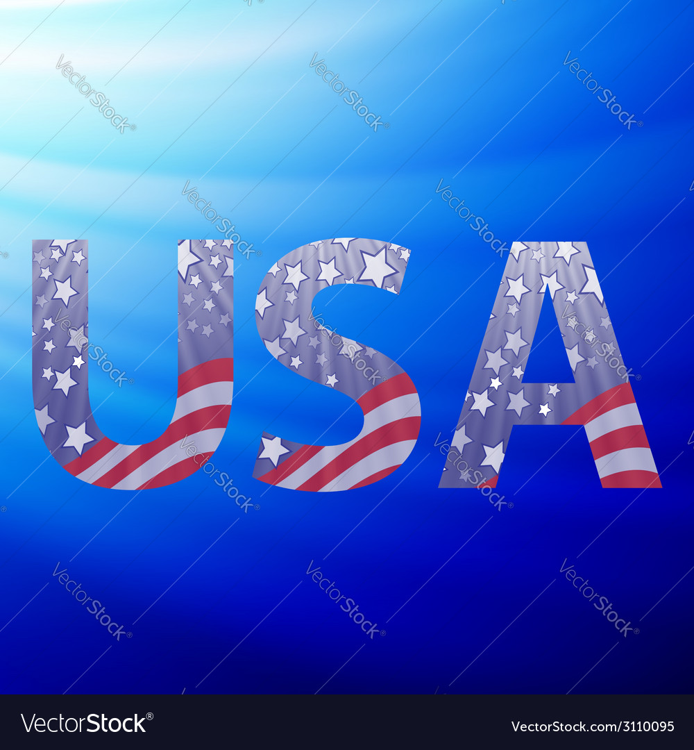Usa capital letters vector   Price: 1 Credit (USD $1)