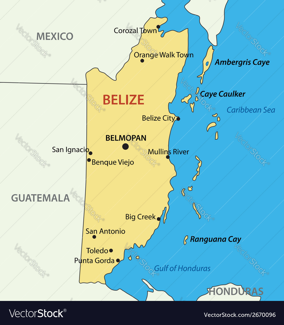 Belize - map vector | Price: 1 Credit (USD $1)