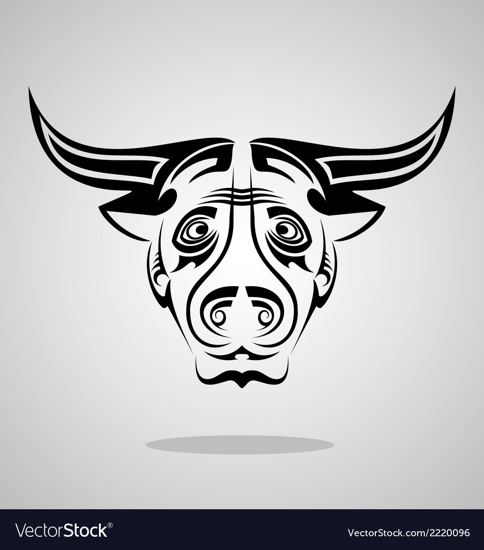 Buffalo head tribal vector | Price: 1 Credit (USD $1)