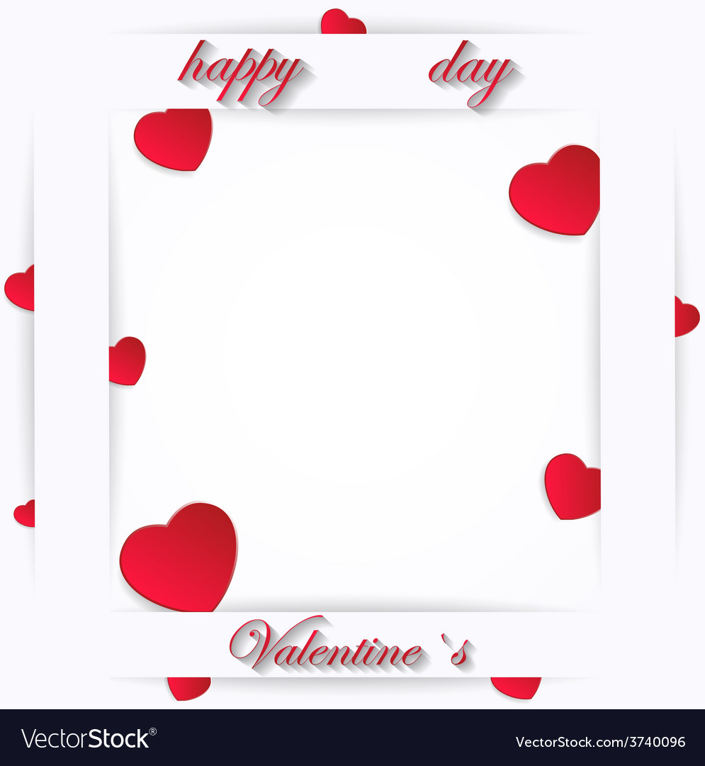 Card for valentine day on a white background vector | Price: 1 Credit (USD $1)