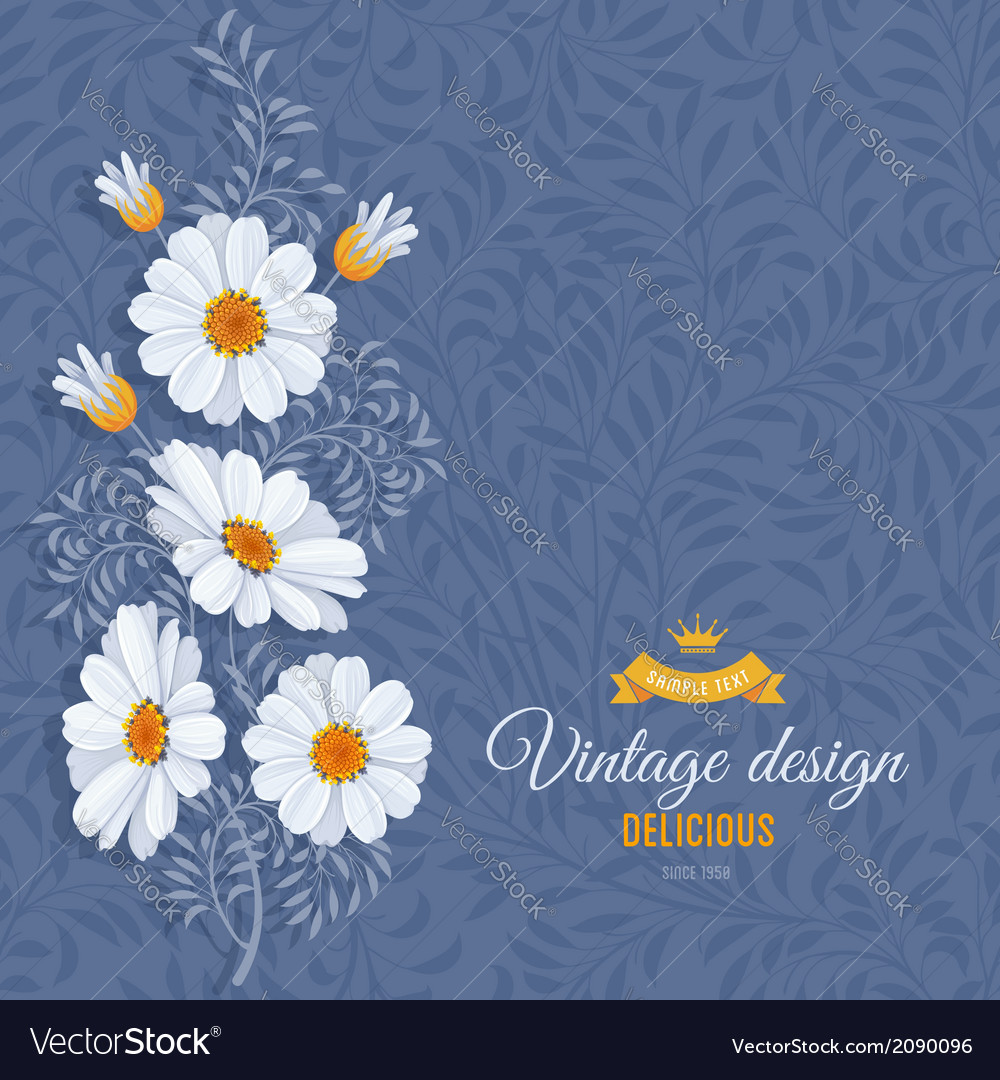 Daisy background vector | Price: 1 Credit (USD $1)