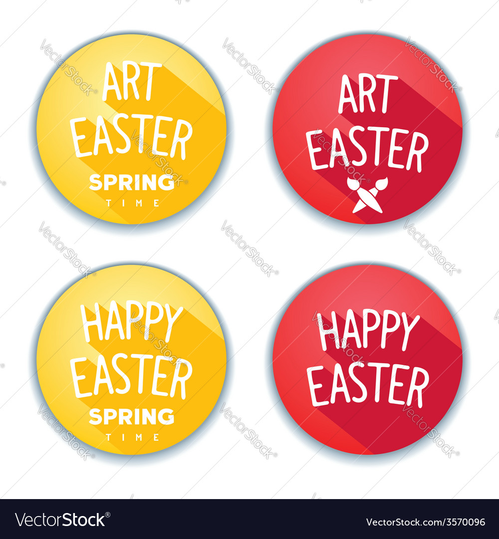 Easter flat stickers vector | Price: 1 Credit (USD $1)