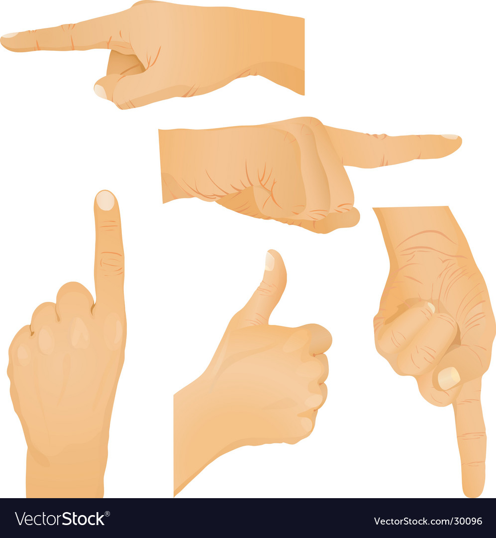 Hand gestures vector | Price: 3 Credit (USD $3)