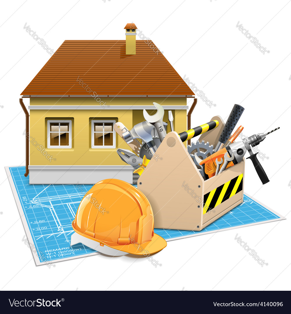House repair project vector | Price: 3 Credit (USD $3)