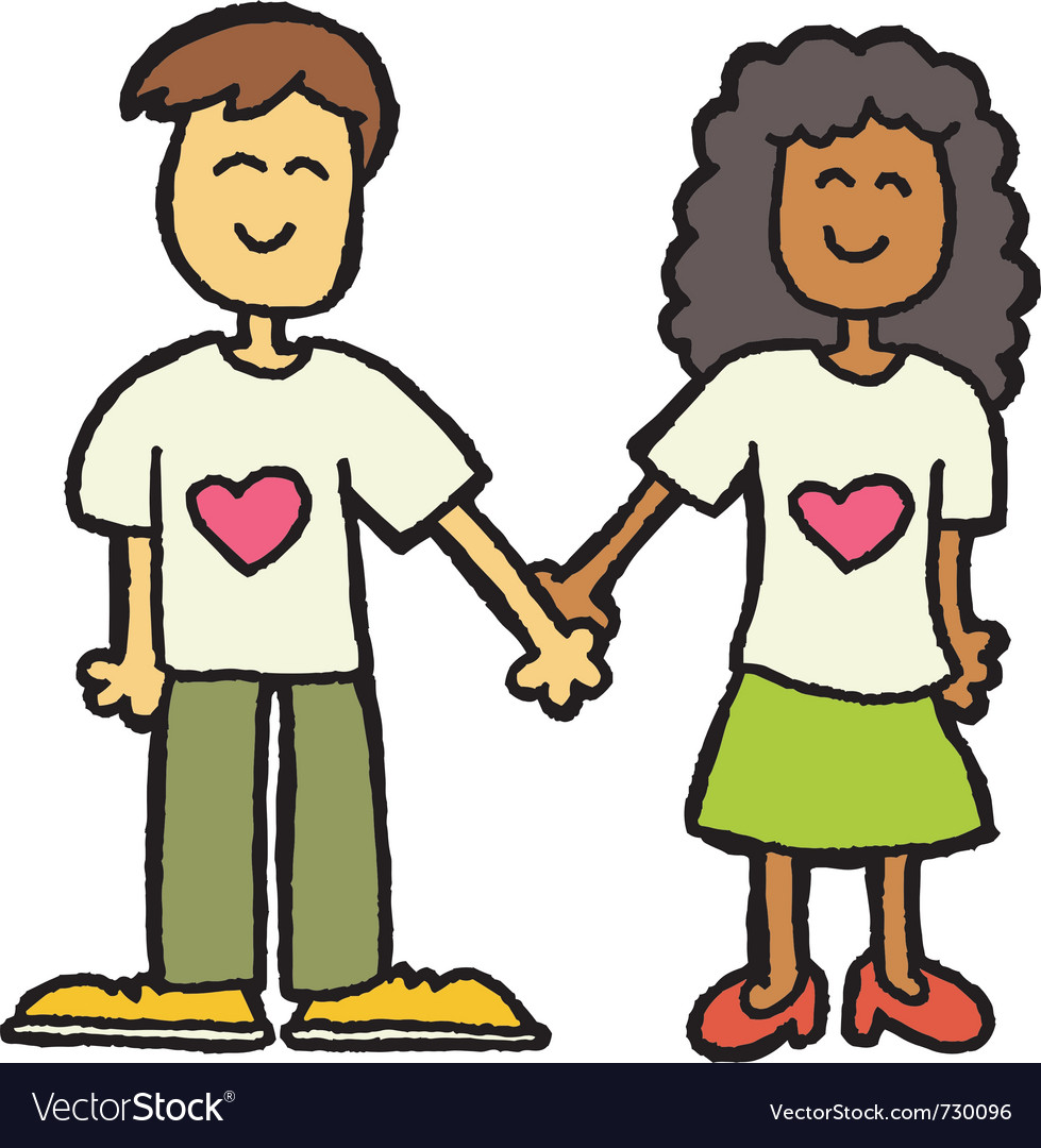 Interracial couple vector | Price: 1 Credit (USD $1)