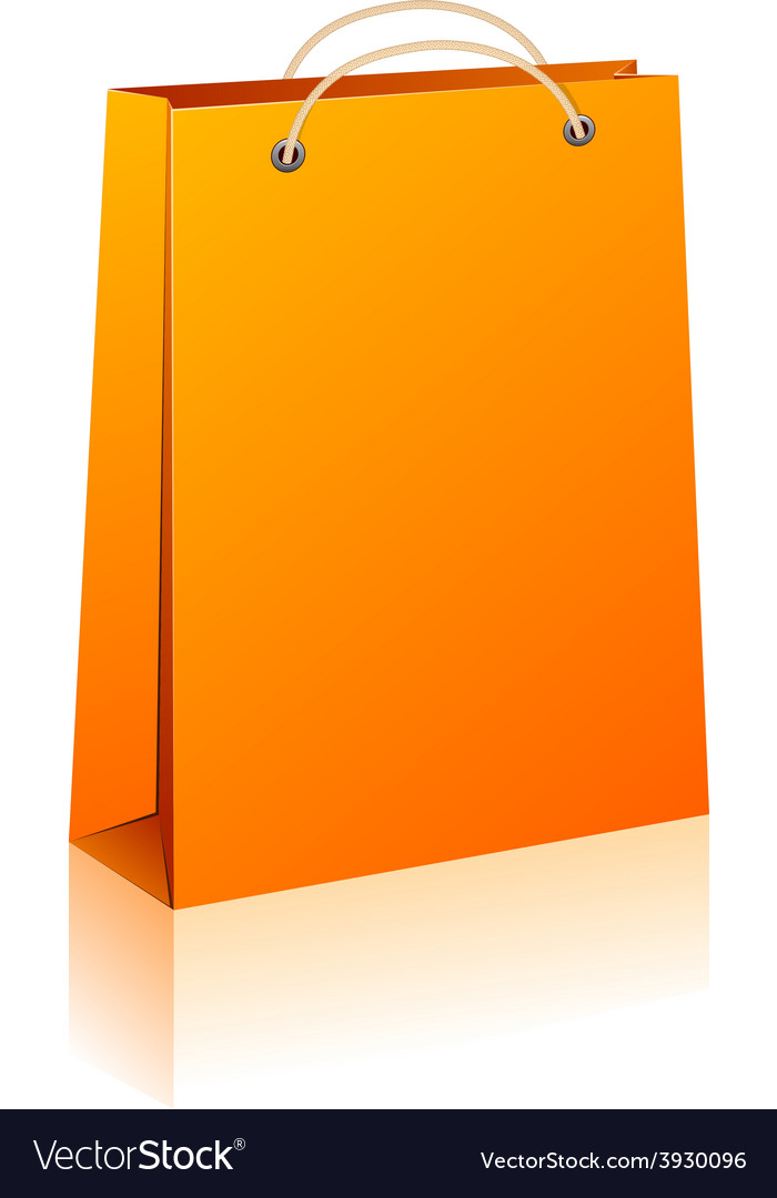 Orange shopping bag vector   Price: 1 Credit (USD $1)