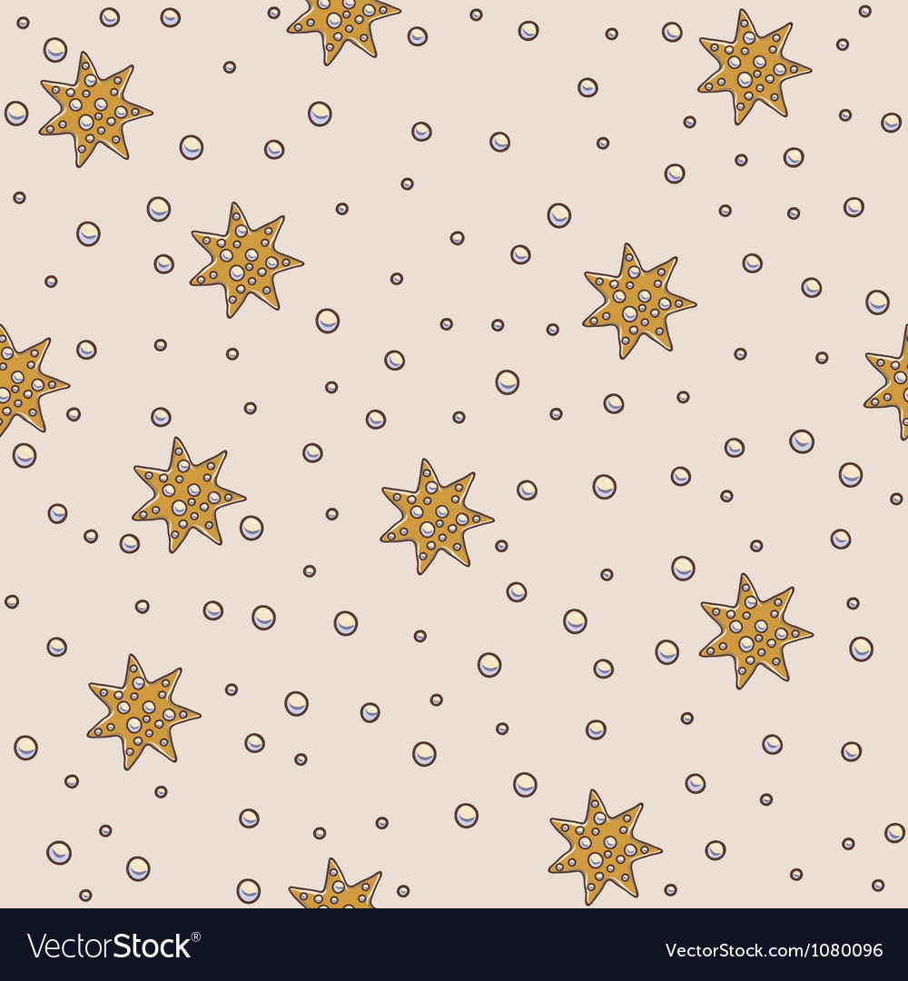 Star and pearls seamless pattern vector | Price: 1 Credit (USD $1)