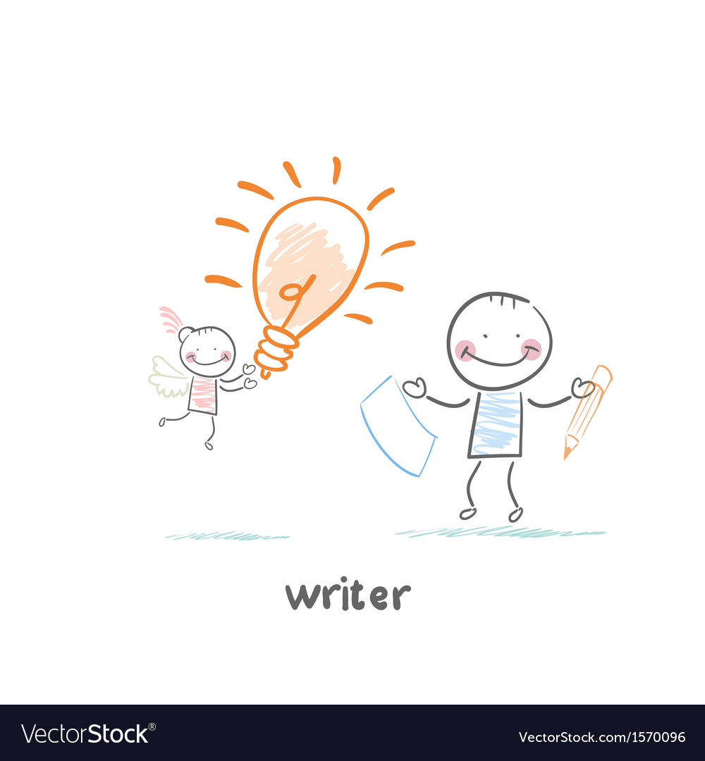 Writer vector | Price: 1 Credit (USD $1)