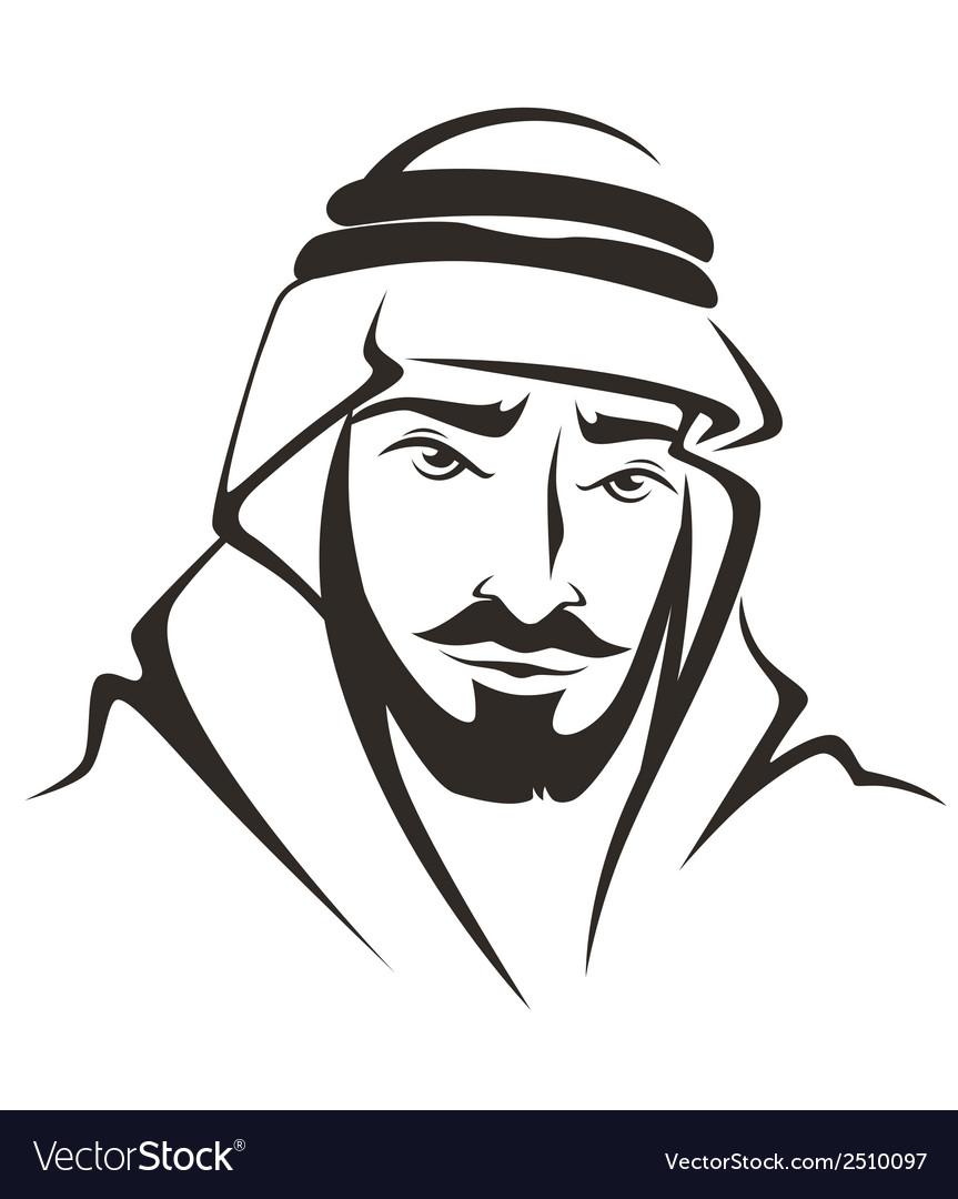 Arabic man vector | Price: 1 Credit (USD $1)
