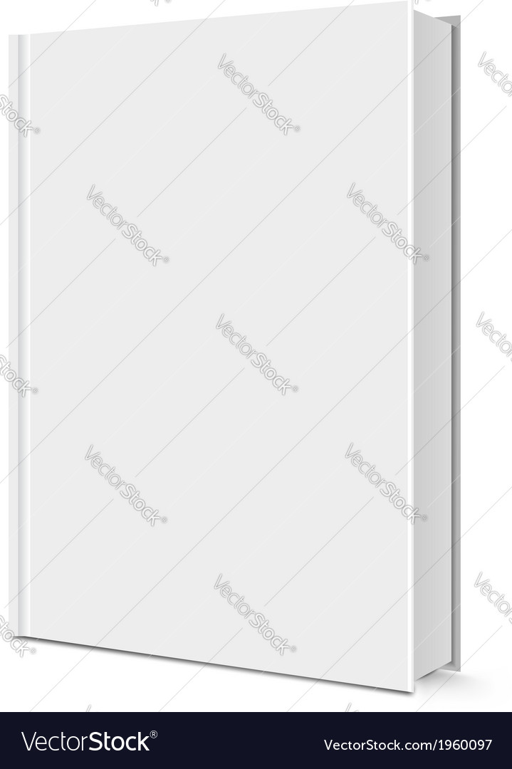 Blank white book vector | Price: 1 Credit (USD $1)