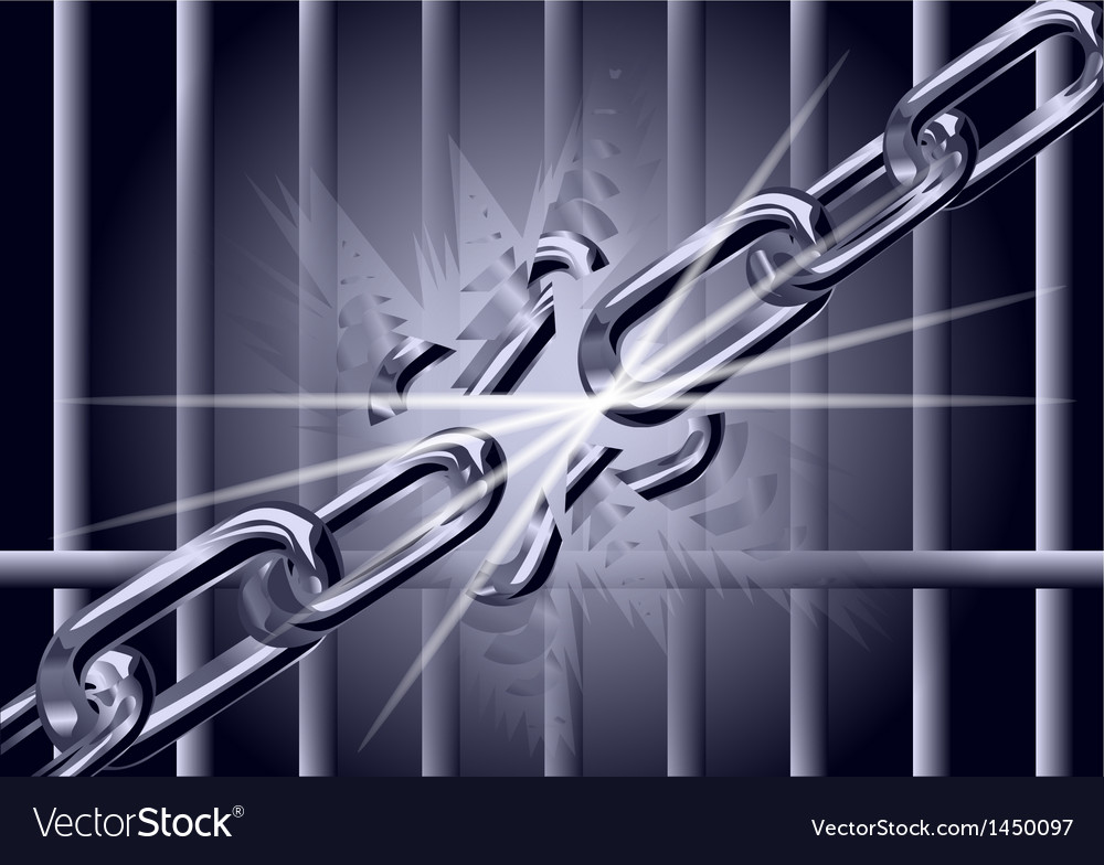 Chain is broken vector | Price: 1 Credit (USD $1)