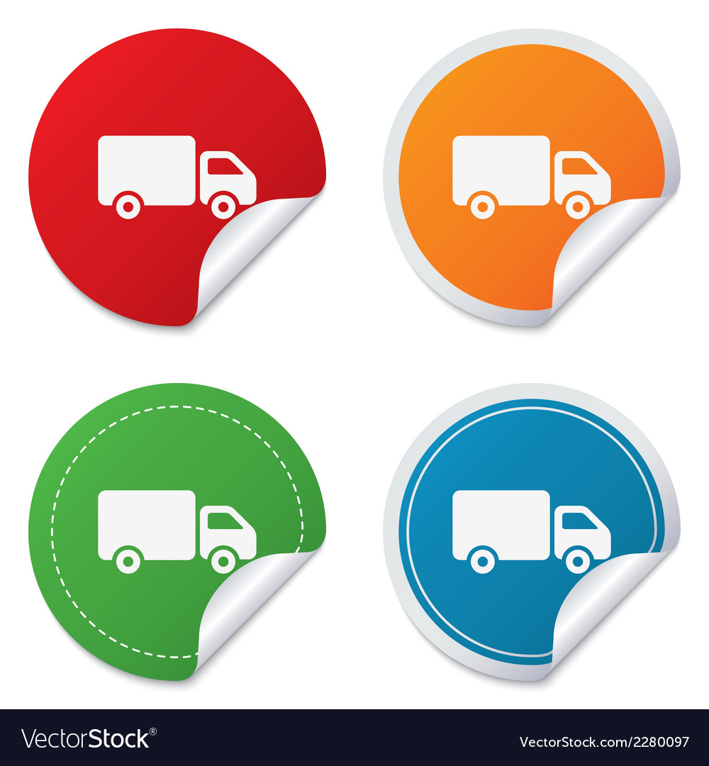 Delivery truck sign icon cargo van symbol vector | Price: 1 Credit (USD $1)