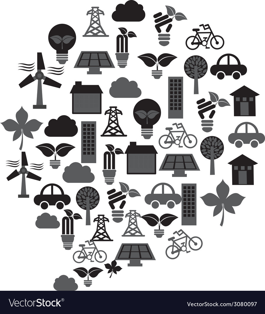 Eco industry design vector | Price: 1 Credit (USD $1)