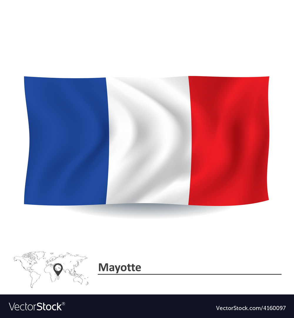 Flag of mayotte vector | Price: 1 Credit (USD $1)