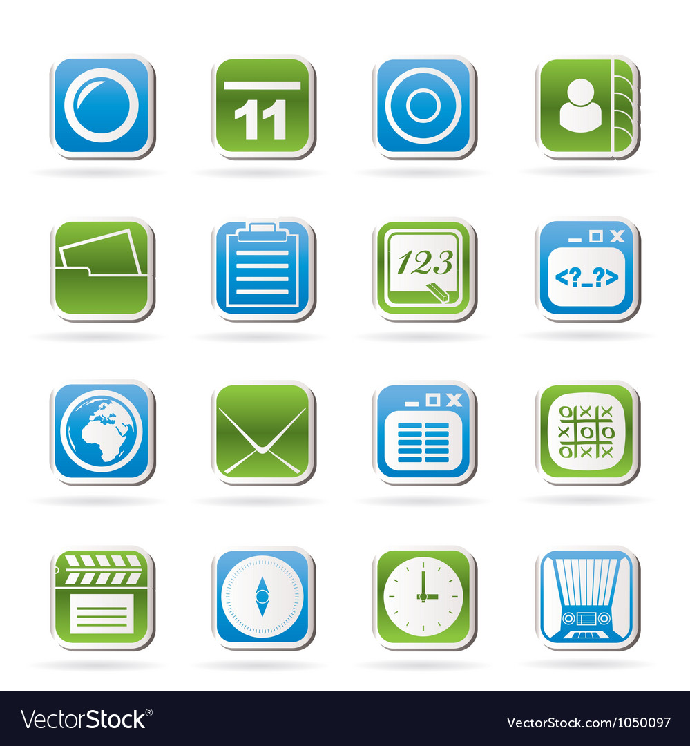 Mobile phone and communication icons vector | Price: 1 Credit (USD $1)