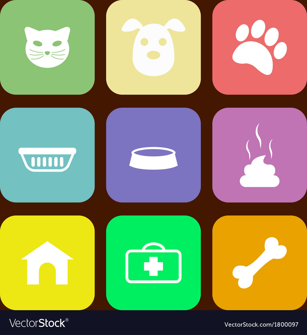 Pet icons vector | Price: 1 Credit (USD $1)