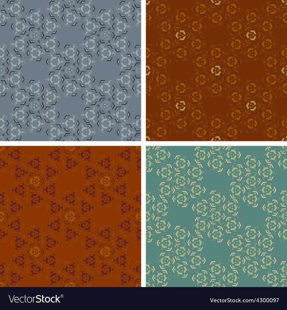 Seamless abstract art pattern set vector | Price: 1 Credit (USD $1)