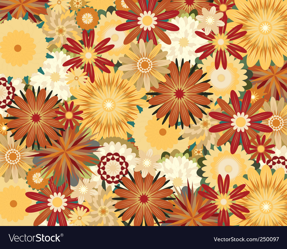 Toned flowers vector | Price: 1 Credit (USD $1)