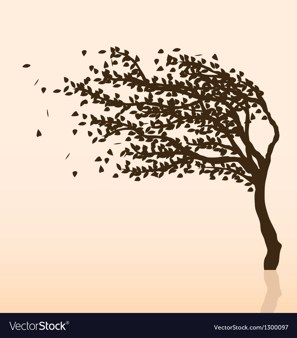 Wind and tree vector | Price: 1 Credit (USD $1)