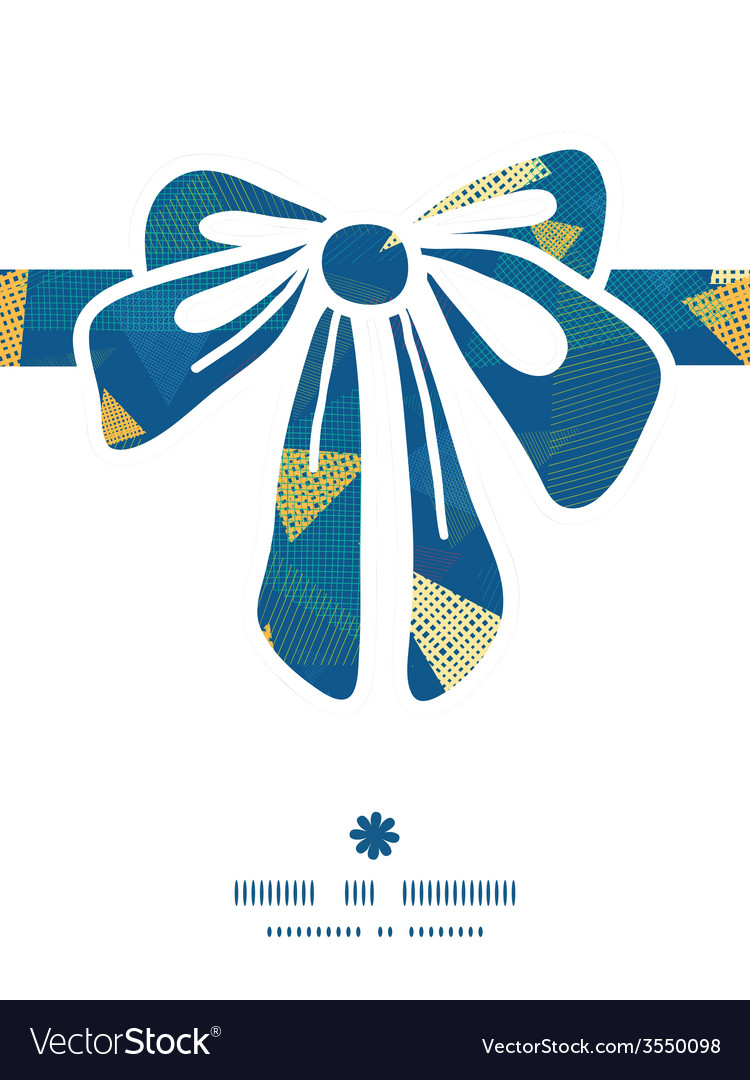 Abstract fabric triangles gift bow silhouette vector | Price: 1 Credit (USD $1)