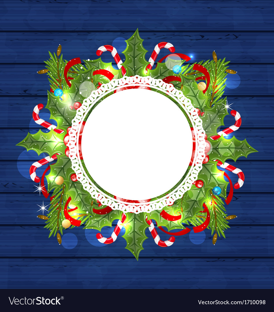 Christmas holiday decoration with greeting card vector | Price: 1 Credit (USD $1)