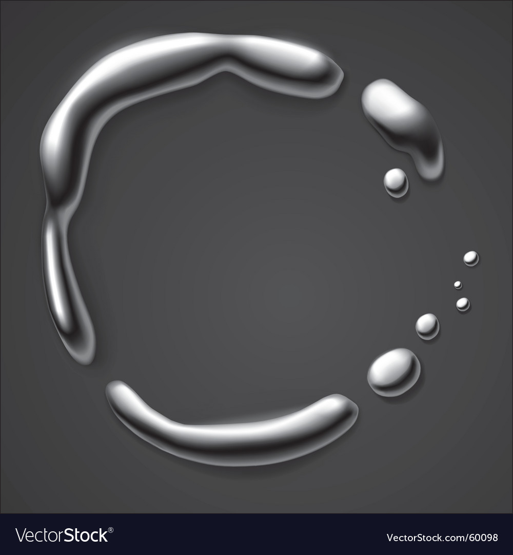 Liquid metal border vector | Price: 1 Credit (USD $1)