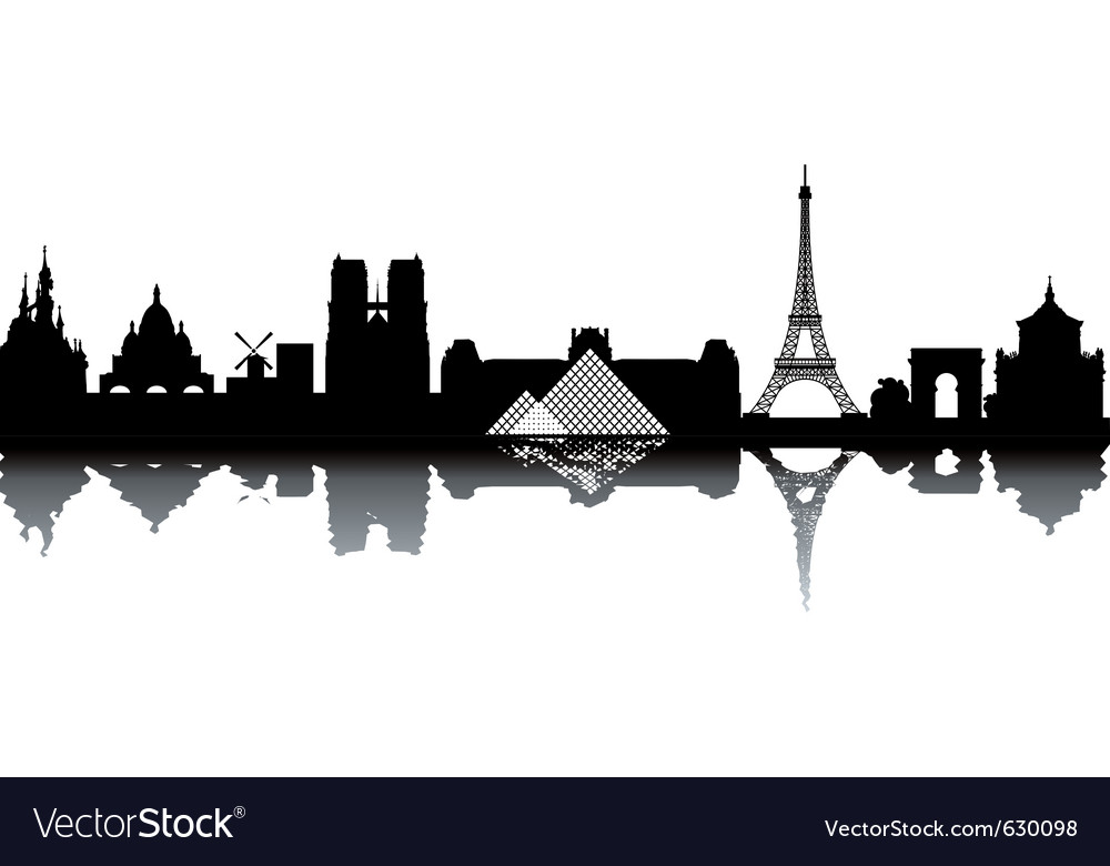 Paris cityscape vector | Price: 1 Credit (USD $1)