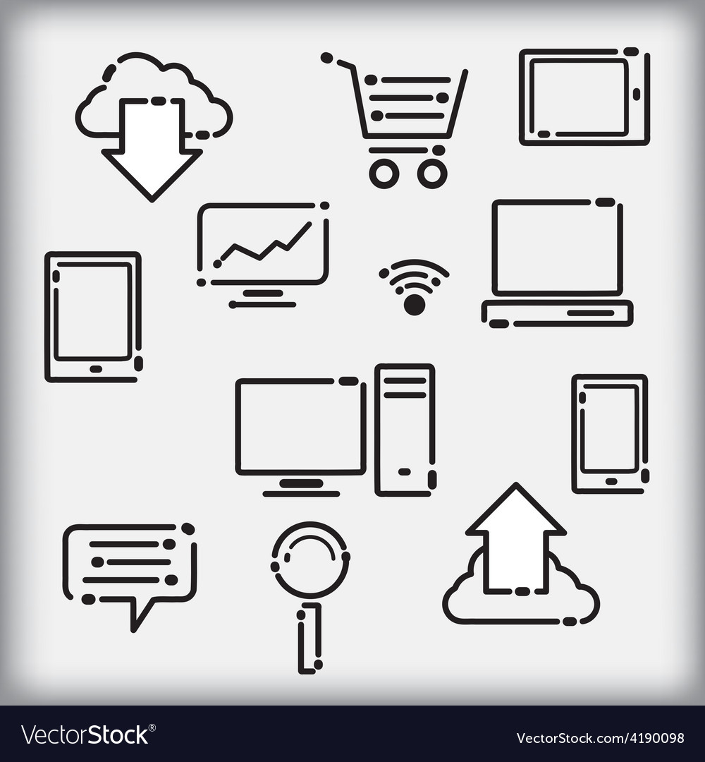 Set of infographic icons vector | Price: 1 Credit (USD $1)