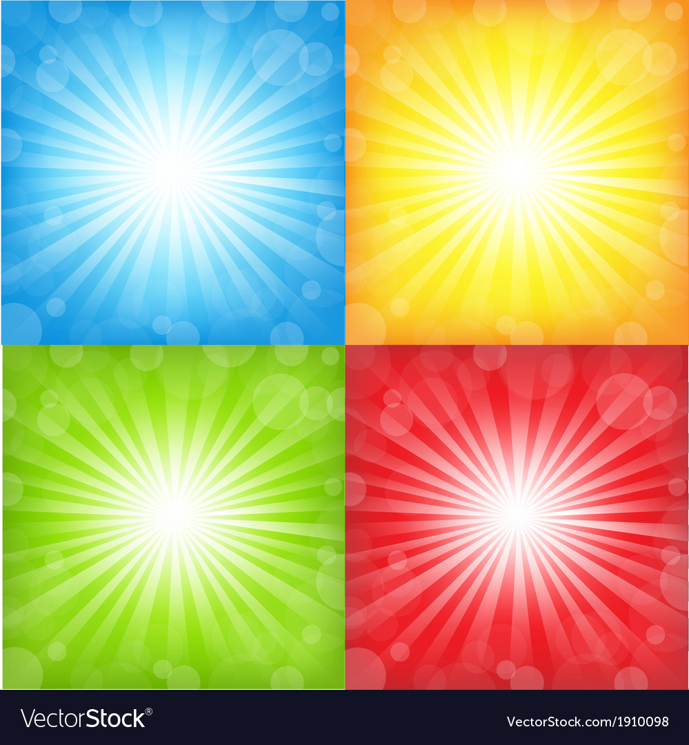 Sunburst and bokeh set vector | Price: 1 Credit (USD $1)
