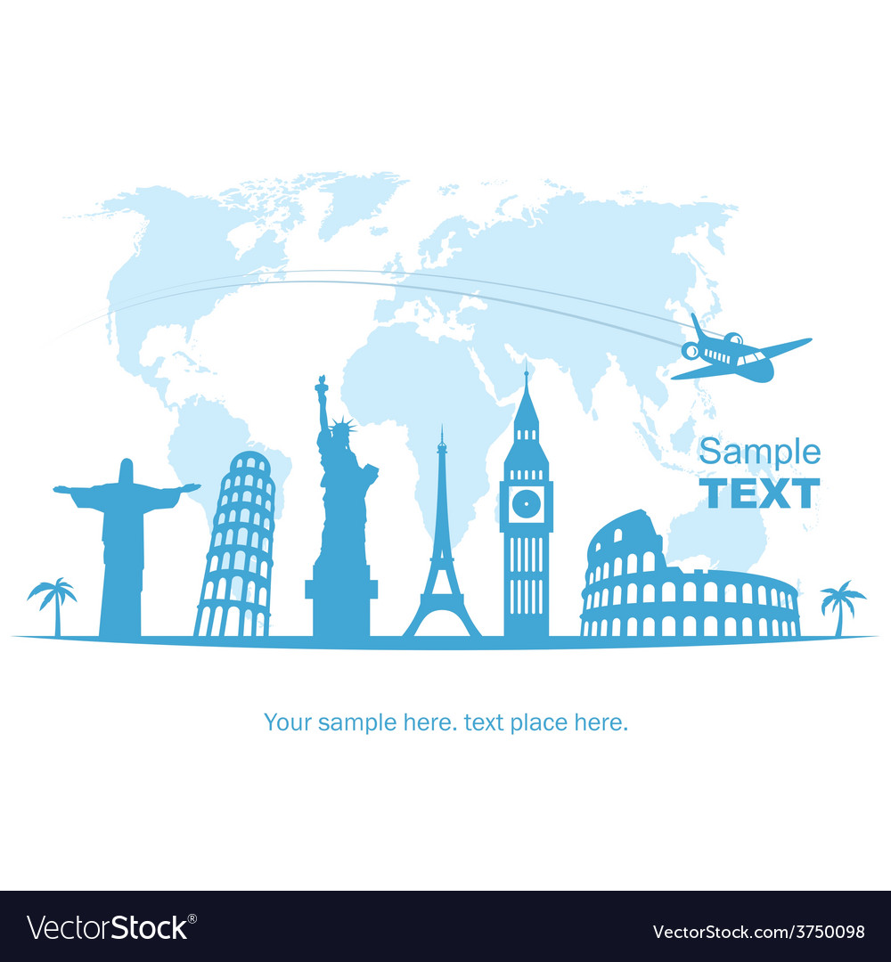 Travel and tourism background vector | Price: 1 Credit (USD $1)