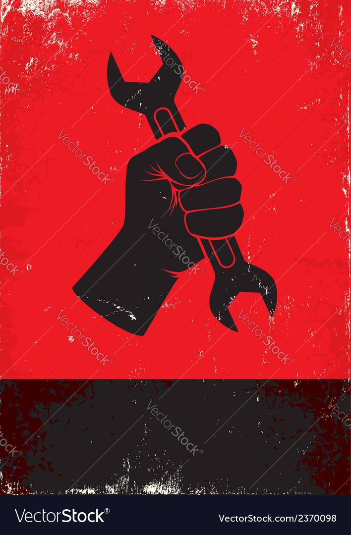 Worker hand vector | Price: 1 Credit (USD $1)
