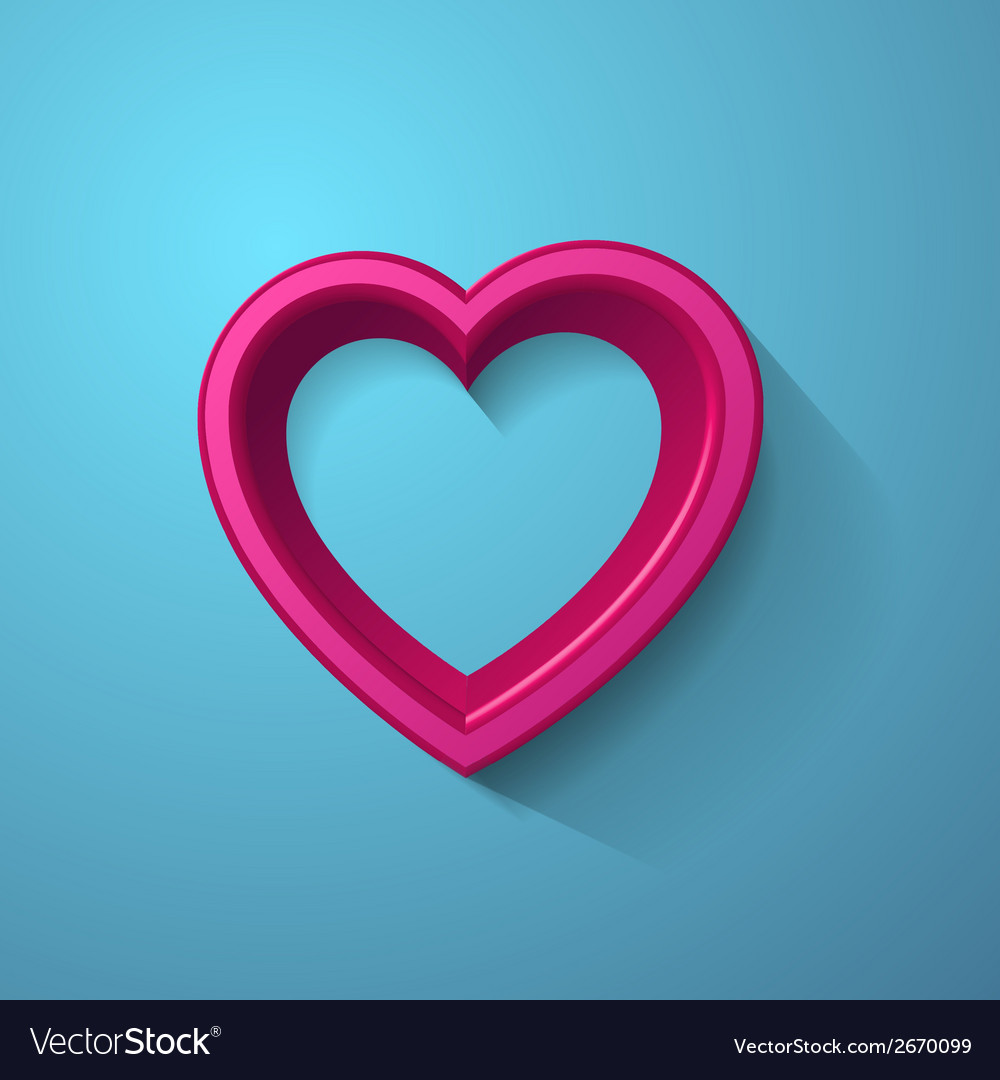 3d heart frame vector | Price: 1 Credit (USD $1)