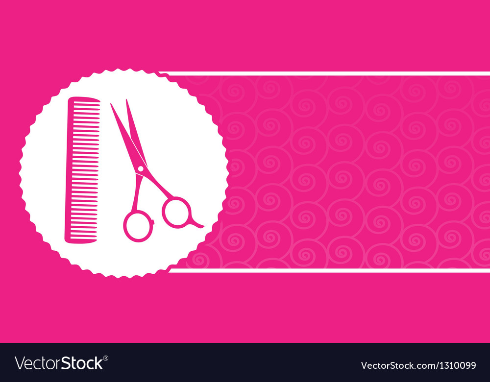 Barbershop business card with scissors and comb vector | Price: 1 Credit (USD $1)