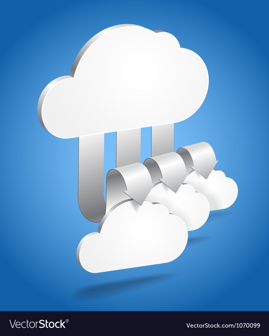Clouds and arrows vector | Price: 1 Credit (USD $1)