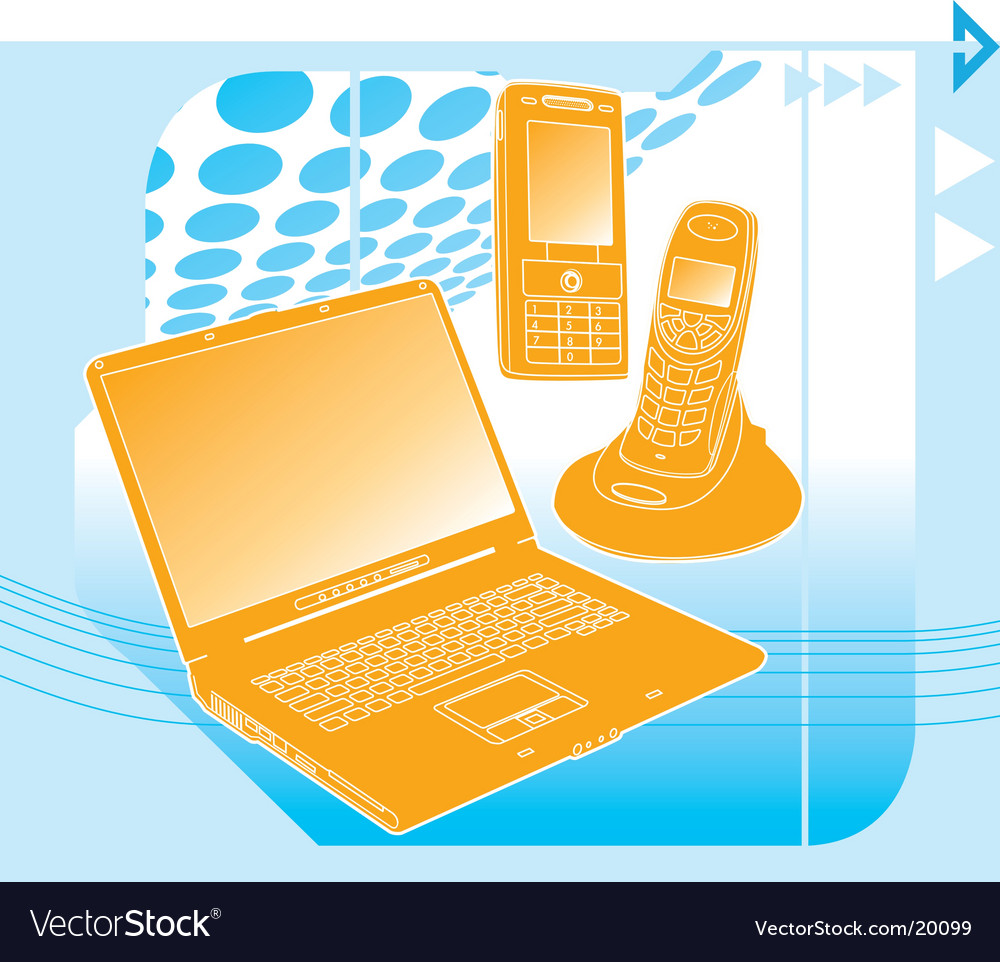 Communication technology vector | Price: 1 Credit (USD $1)