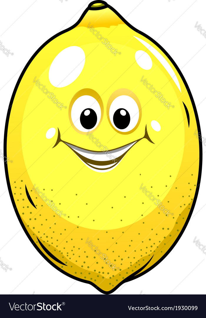Cute little lemon with a happy grin vector   Price: 1 Credit (USD $1)