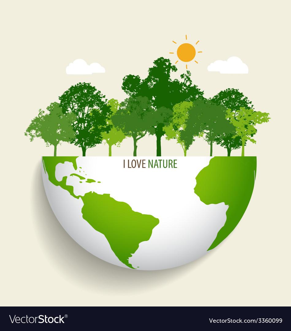 Green eco earth vector   Price: 1 Credit (USD $1)