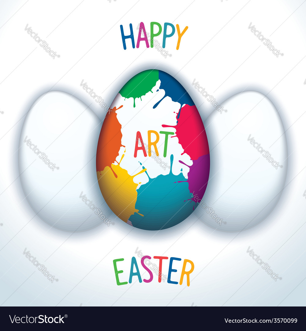 Happy art easter vector | Price: 1 Credit (USD $1)