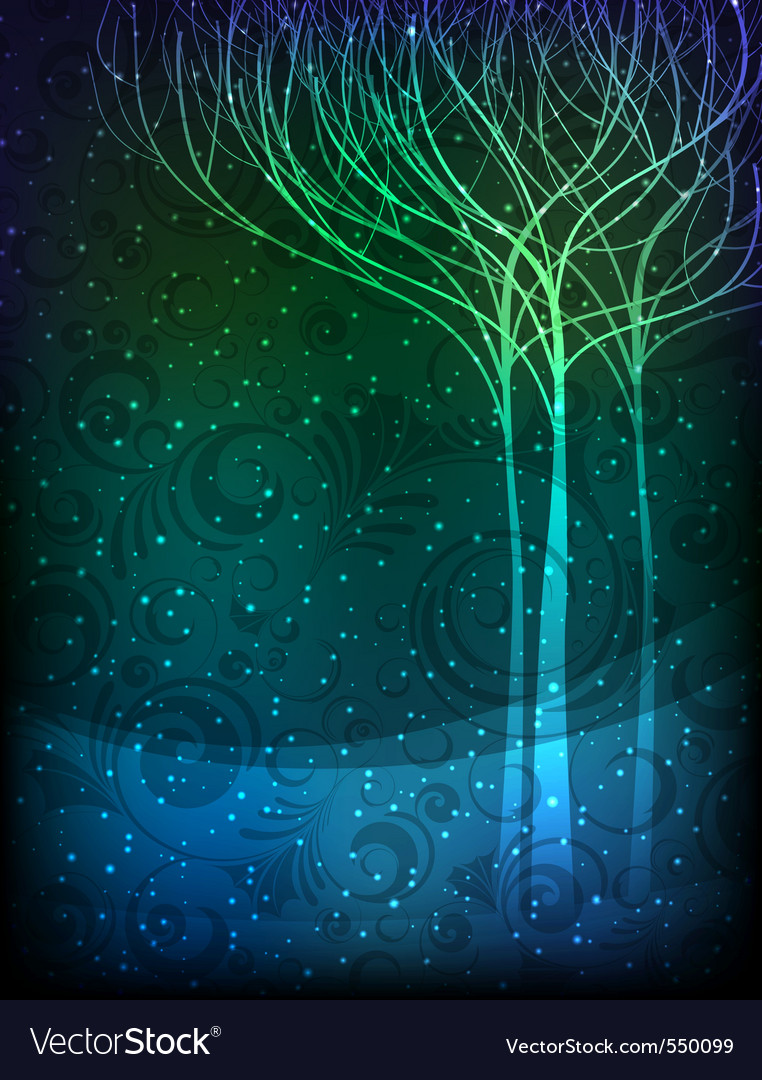 Magic forest vector | Price: 1 Credit (USD $1)
